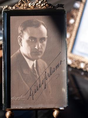 Gino Talamo Autographed Postcard
