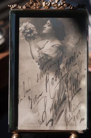 Lyda Borelli Autographed Postcard