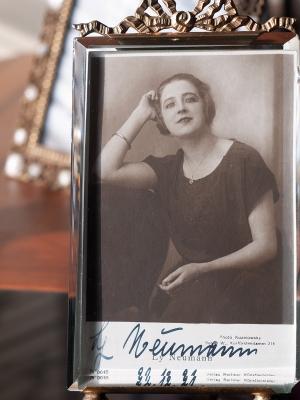 Ly Neumann 1921 Autographed Postcard