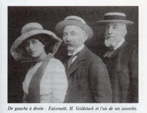 アンリ・ゴールドステュック氏(中央)とルネ(左)
