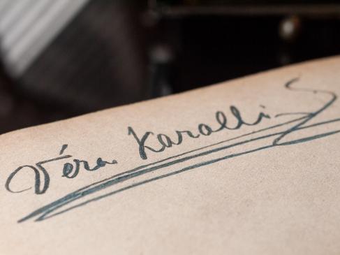 Vera Karalli 1920 Autograph
