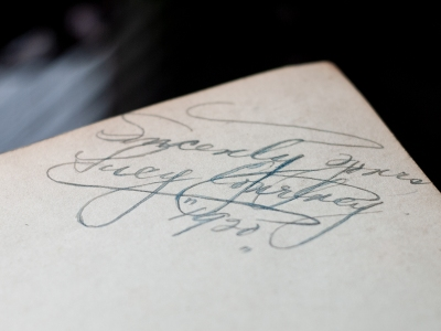 Lucy Courtney 1920 Autograph