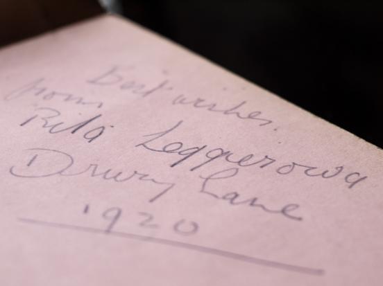 Rita Leggierowa 1920 Autograph
