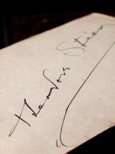 Theodore Stier 1920 Autograph