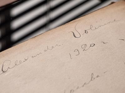 Alexandre Volinine 1920 Autograph