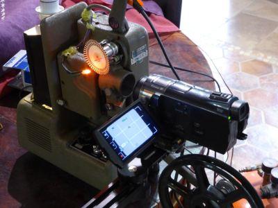 シネジェル9.5ミリ改造型テレシネ機