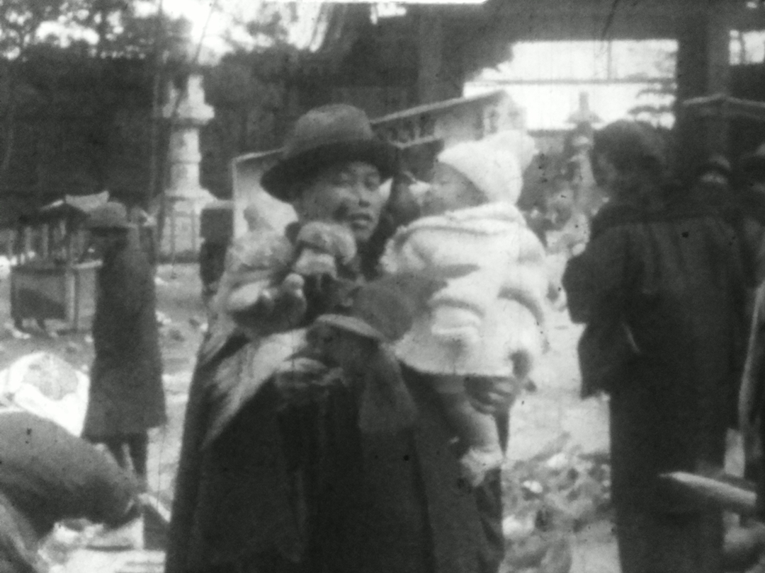 1930年 「鳩と戯れる進一」 9.5mm 個人撮影動画