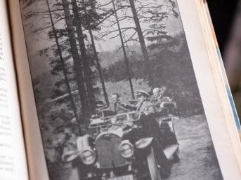 1916年『ザッペルンデ・ラインヴァント(活動寫眞)』屋外ロケ