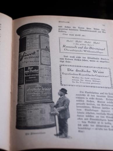 1916年『ザッペルンデ・ラインヴァント(活動寫眞)』映画広告用の塔