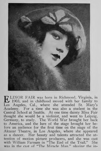 1925 - Elinor Fair in Famous Film Folk