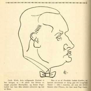 キャリア初期に映画誌「フィルメン」に掲載された似顔絵