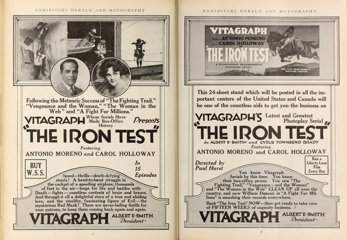 The Iron Test in 1918 Exhibitors Herald Sep-Dec Issue