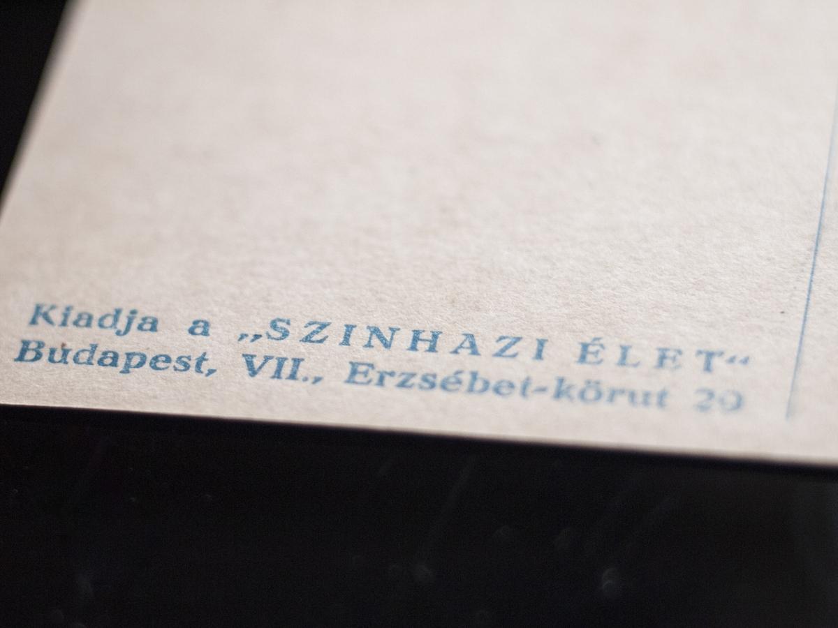 Bánky Judit mid 1910s Postcard [Színházi Élet] 02