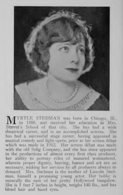Myrtle Stedman from Famous Film Folk (1925)