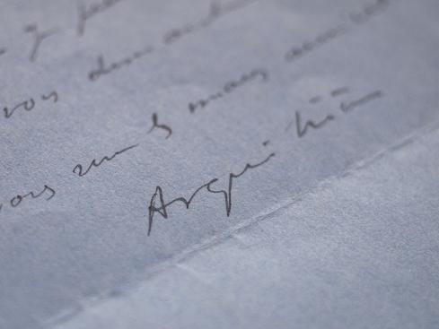 1933年 - アレクサンドル・アルキリエール(ジゴマ役俳優)直筆書簡 01