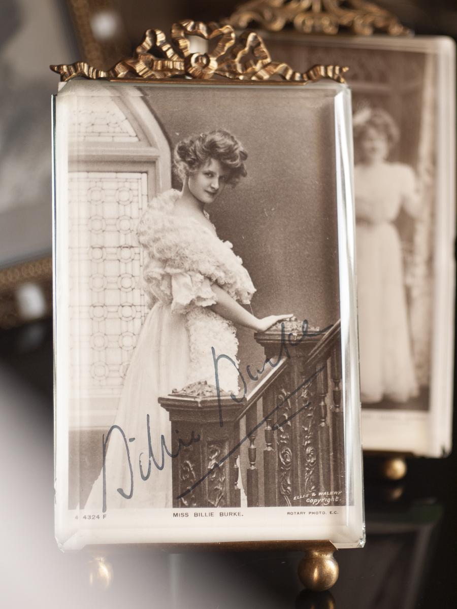 ビリー・バーク 1909年頃直筆サン入り絵葉書
