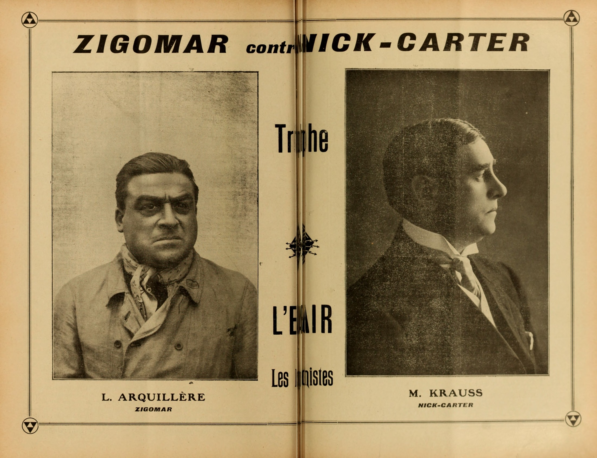 Zigomar contre Nick Carter (Ciné-Journal n.185, mars 1912)