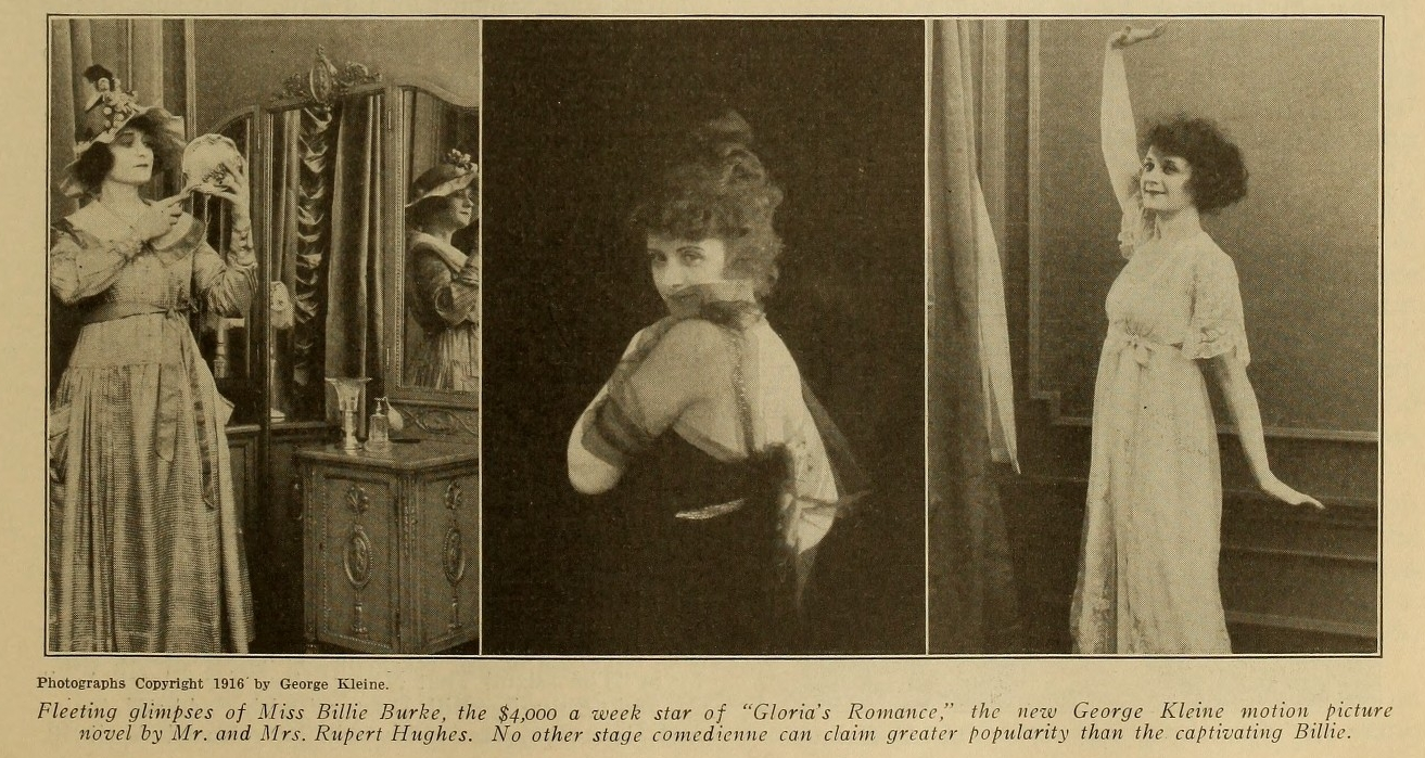 Billie Burke in Motography Magazine 1916 April 29 Issue